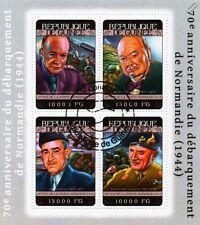 WWII D-Day Normandy Landings Stamp Sheet/Eisenhower/Montgomery/Bradley/Churchill