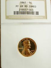 SWEET 1961 PF69 CAMEO RED LINCOLN PROOF CENT - NGC  PR69 CAM