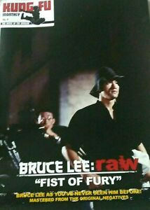 BRUCE LEE KUNG FU MONTHLY RAW FIST OF FURY POSTER MAGAZINE