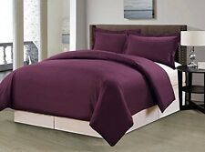 Grand Linen 1500 Tread C Microfiber Egyptian Duvet Cover Set, 3pc Full/ Queen,