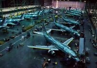 Art print POSTER / Canvas Airplanes at Boeing
