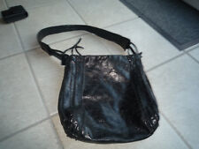 Handtasche schwarz echt Leder Nicoli