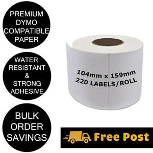 Dymo Compatible SD0904980 Shipping Labels 4XL LabelWriter 104mm x 159mm S0904980