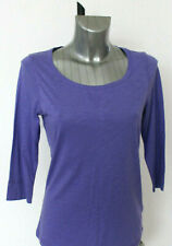 M&S Indigo Size 12 Cotton Lyocell 3/4 Sleeve Top New Lilac