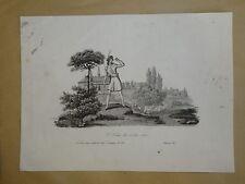 BELLE Gravure SCENE BERGER AMOUR ROMANTIQUE HOMME MOUTON EPOQUE EMPIRE 1805