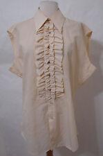 Vintage Custom EDIE ADAMS Cream Silk Costume Sleeveless Blouse XXL