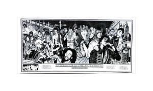 Rock Stars Hendrix Morrison Freddie Janis Elvis Marley After Hours Poster 22x47