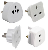 Universal Holiday Travel Adaptor Plugs | UK USA EU AU India Pakistan 2 To 3 Pin