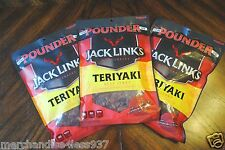 Jack Links Teriyaki Beef Jerky 3 pounds in 3 one pound bags for freshness.