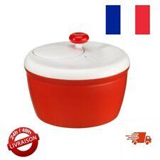 Essoreuse a Salade - Essorage Facile et Rapide, Bouton Stop, Rouge Moulinex