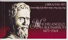 Gibraltar MNH Stamp Booklet 1975 Michelangelo Buonarroti Self-Adhesive