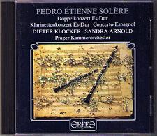 Dieter KLÖCKER: SOLERE 3 Clarinet Concerto Espagnol ORFEO CD 1999 Sandra Arnold