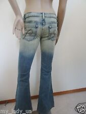 New Urban Outfitters Piper Low Rise Flare Denim Jeans Sz 1 Short Light Wash Blue