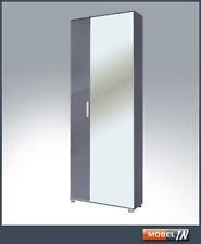 Garderobenschrank Schrank Wandschrank  Möbel Garderobe in Grau / Grau HG