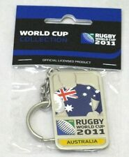 33650 RUGBY WORLD CUP 2011 AUSTRALIA SILVER JERSEY FLAG KEYRING KEY RING