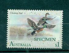 ANATRE - DUCKS AUSTRALIA 1991 $1 SPECIMEN - SAGGIO