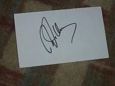 Robert Allenby Signed 3x5 index Card