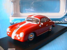 PORSCHE 356A CARRERA 1956 SOLIDO 1/43 ROUGE A BANDES BLANCHES GERMANY CAR WAGEN