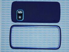Cover case vetro per Nokia 5800 blu bleu+penna pennino new