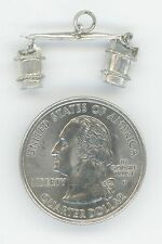 STERLING OLD FASHION WATER CARRIER BUCKETS ON EACH SIDE CHARM PENDANT 925 9863