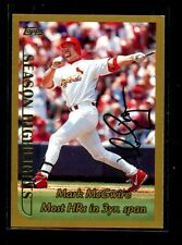 1999 TOPPS AUTOGRAPH #201 MARK MCGWIRE CARDINALS NM+ D022204