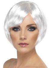 WHITE BABE WIG LADIES FANCY DRESS GLAMOUR SHORT BOB WIG PARTY HEN NIGHT BOB WIG