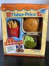 Vintage Fisher Price McDonalds Big Mac & Fries #2161 Play Food- NEW IN BOX 1988