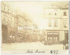 Street scene - Hohe Strasse, Dresden, Germany. Superb 1894 Original Photograph