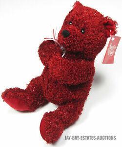 RARE VINTAGE SNUGGLY & CUDDLY STUFFED BEAR RED PLUSH MAIN JOY LIMITED 998815MMII
