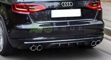 Skirt Rear Bumper sport Diffuser for Audi A3 8V Sportback 12-16 RS