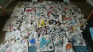 Cotton Canvas Tote Bag Disney Harry Potter Friends Me To You Snoopy Eco Reuse