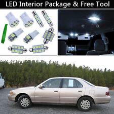 7PCS Xenon White LED Interior Lights Package kit Fit 1992-1996 Toyota Camry J1