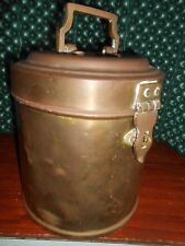 Vintage Antque Ships Brass Galley Canister Captains Can 2 Gallon w/Lid