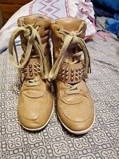 Aldo Tan Wedge Ankle Booties Size 6.5 Preowned Good Condition