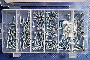Blechschrauben Karosserie Schrauben selbstschneidend Sortiment 6Kant Set 120 tlg