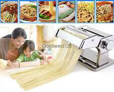 Pasta Maker Noodle Machine Spaghetti Clamp Fettuccine Roller Stainless Steel GSD