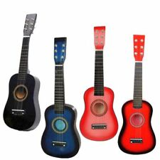 "4 Colors 25"" Beginners Kids Acoustic Guitar 6 String w/ Pick Children Kids Gift"
