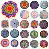 Mandala Round Throw Pillow Case Sofa Cushion Cover Indian Bohemian Floor Decor