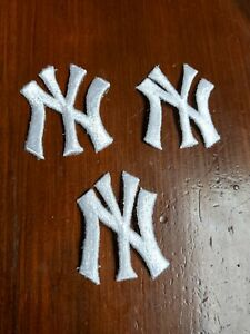 Vintage 1990s MLB New York Yankees 2 inch Iron On Patches Lot of 3
