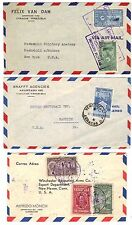 VENEZUELA 1940-50s COLLECTION OF 10 COMMERCIAL COVER SOME CENSORED NEAT FRANKING