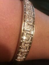 Exquisite 9ct Yellow Gold Fancy Aztec Style .25 Carat Diamond Bangle/Bracelet**