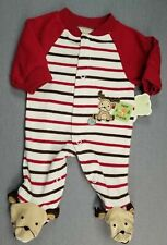 Baby Boy Clothes New Child Mine Carter's Preemie Moose Best Friend Footed Outfit