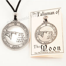 MOON Talisman Seal of Solomon Amulet Magic Pentacle Protection Pendant Necklace
