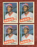 Lot of (4) 1985 Topps ERIC DAVIS Rookie Card #627 RC Cincinnati Reds🔥