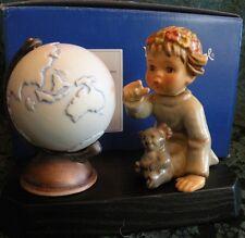 "HUMMEL ""AUSTRALIAN WANDERER"" # 1445 Hum 2064 (3 Piece Set-Figurine, Globe, Base)"
