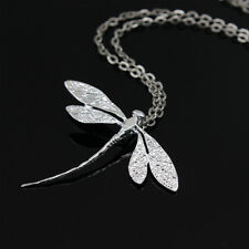 Charm Silver Dragonfly Pendant Long Chain Necklace Fashion Jewelry for Women New