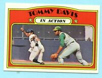 1972 Topps Baseball # 42 Tommy Davis in Action - Box 734-374