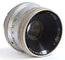Minolta e Rokkor 75 mm f4.5 lente di ingrandimento - 39 MM VITE Monte - & Alloggiamento