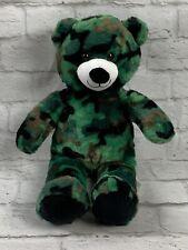 "Build-A-Bear Bab Workshop 15� Plush Camo Camouflage Bear With Sound ""I Love You"""