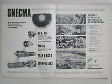 5/1970 PUB SNECMA USINES MOLSHEIM BUGATTI LE HAVRE GIVORS BOUVIERS EVRY MELUN AD